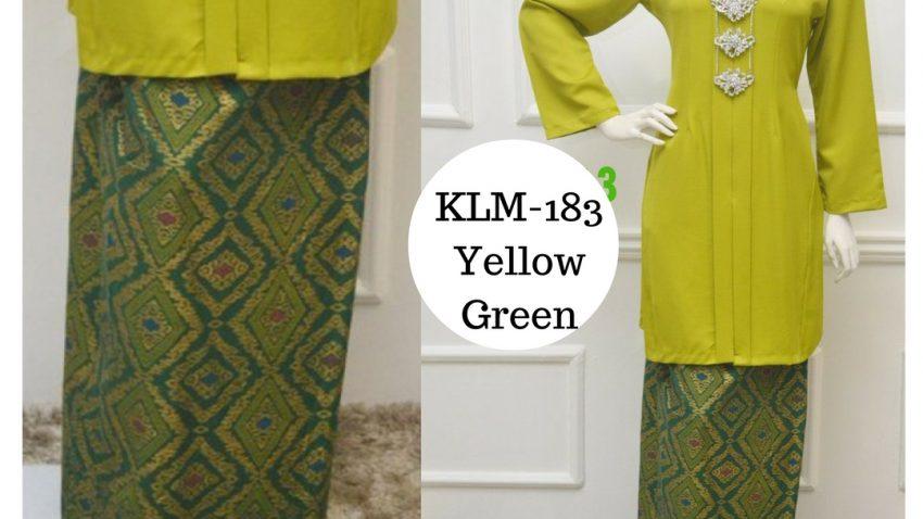 Baju-kebarung-songket-labuh-hijau-kuning-KLM-183