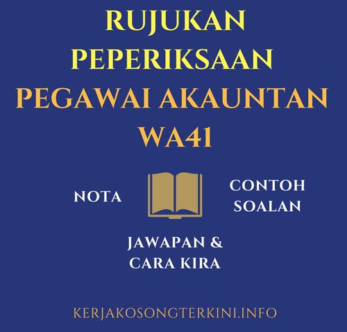 Rujukan Nota Ebook Peperiksaan Akauntan WA41