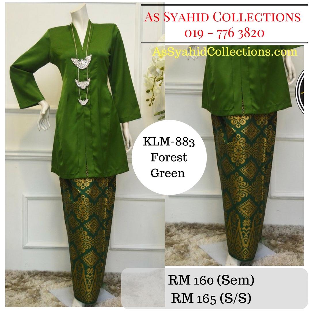 baju-kebarung-songket-kebarong-terkini-hijau-forest-green-klm-883