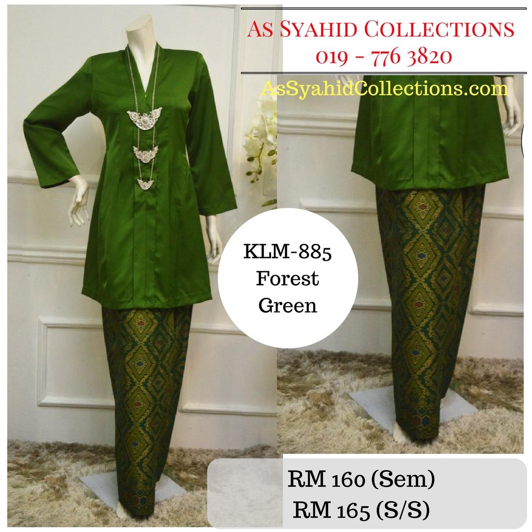 baju-kebarung-songket-kebarong-terkini-hijau-forest-green-klm-885
