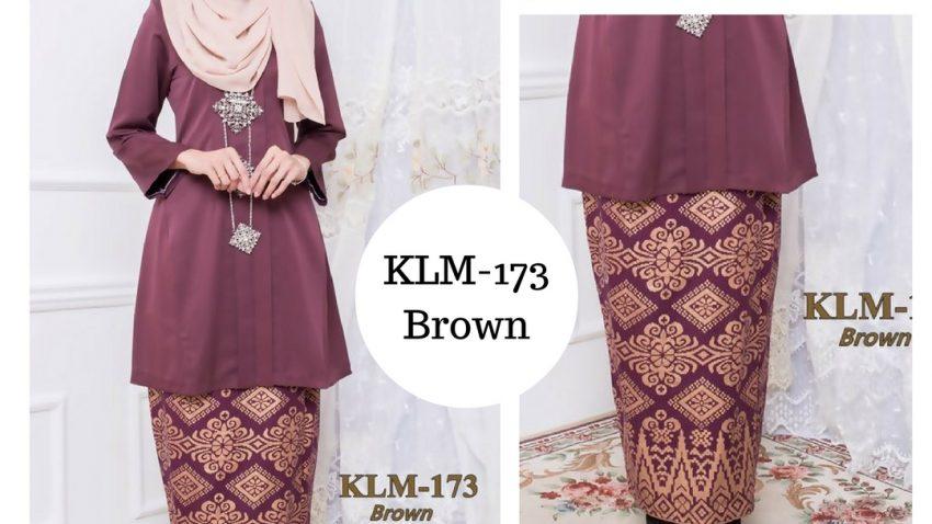 baju-kebaya-kurung-kebarung-kebarong-songket-terkini-online-brown-coklat-klm-173
