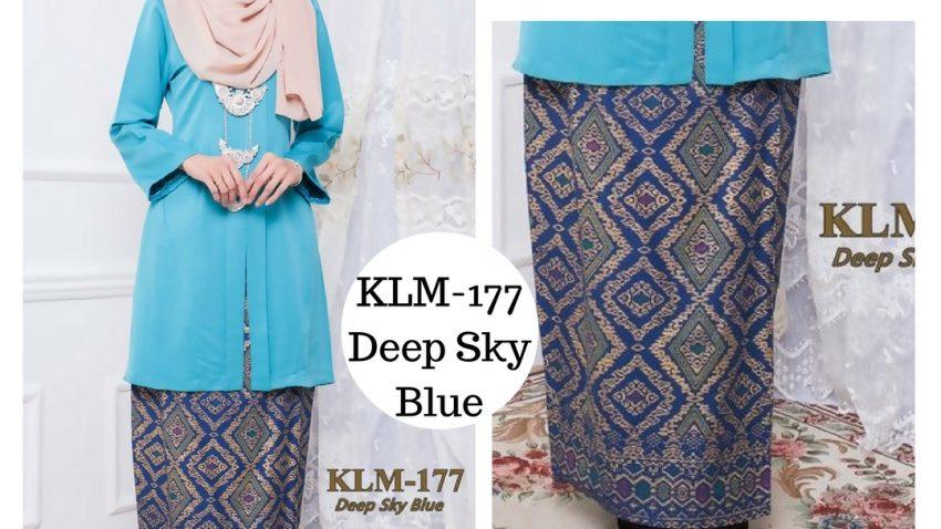 baju-kebaya-kurung-songket-kebarung-kebarong-terkini-online-sky-blue-biru-langit-klm-177