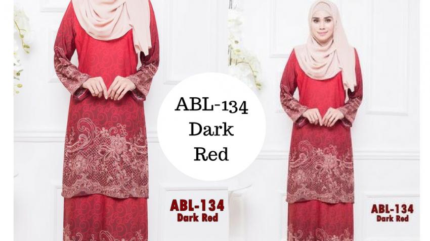 baju-kurung-batik-pahang-terkini-2016-online-dark-red-merah-gelap-ABL-134