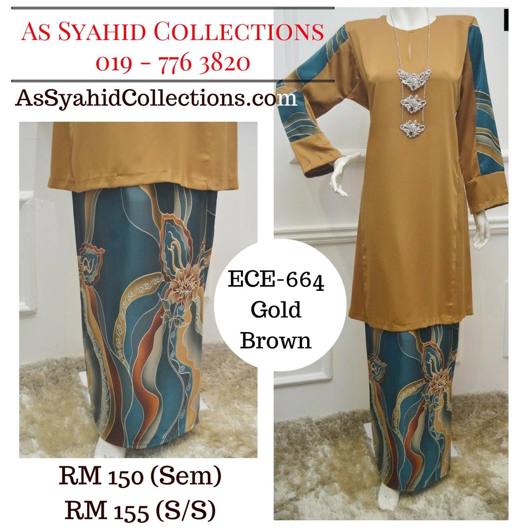 baju-kurung-batik-terkini-gold-brown-emas-coklat-ECE-664