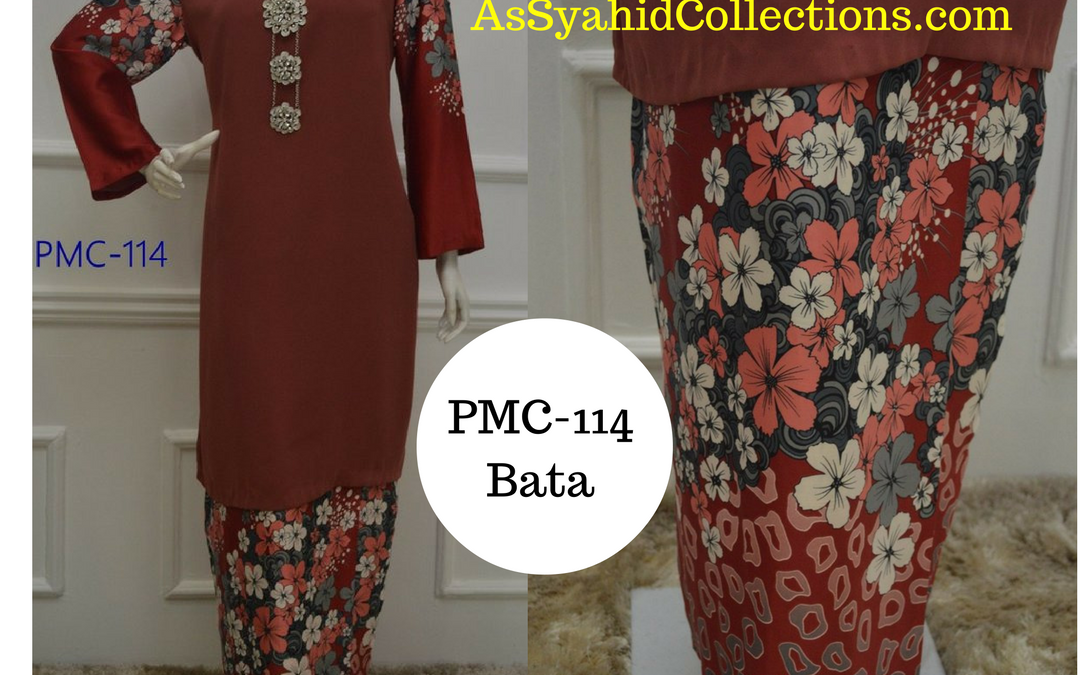 Baju Kurung Malaysia Corak Bunga Terkini Koleksi PMC