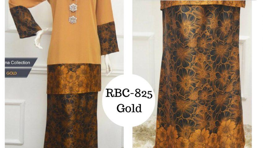 baju kurung moden labuh malaysia terkini 2017 online gold emas RBC-825