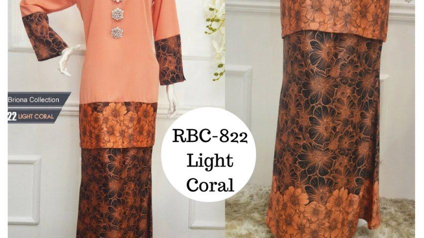 baju kurung moden labuh terkini 2017 online light coral oren RBC-822
