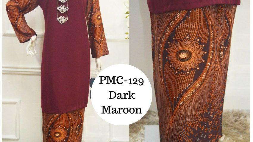 baju-kurung-moden-malaysia-terkini-dark-maroon-gelap-PMC-129