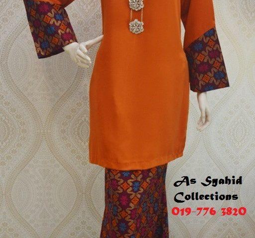 baju-kurung-moden-songket-terkini-cantik-murah-online-oren-acm-222