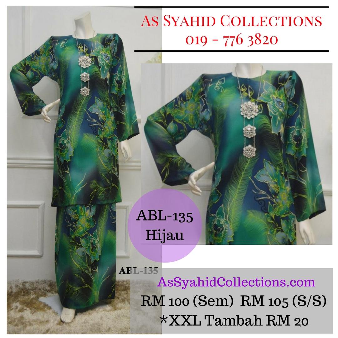 baju-kurung-pahang-batik-terkini-2017-hijau-green-ABL-135