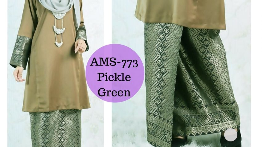 baju-kurung-pahang-songket-terkini-2017-hijau-jeruk-pickle-green-AMS-773