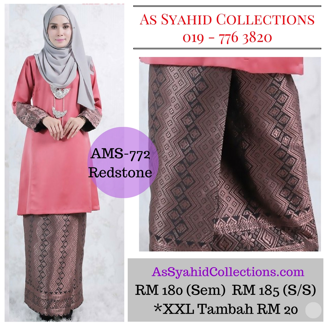 baju-kurung-pahang-songket-terkini-2017-merah-redstone-AMS-772