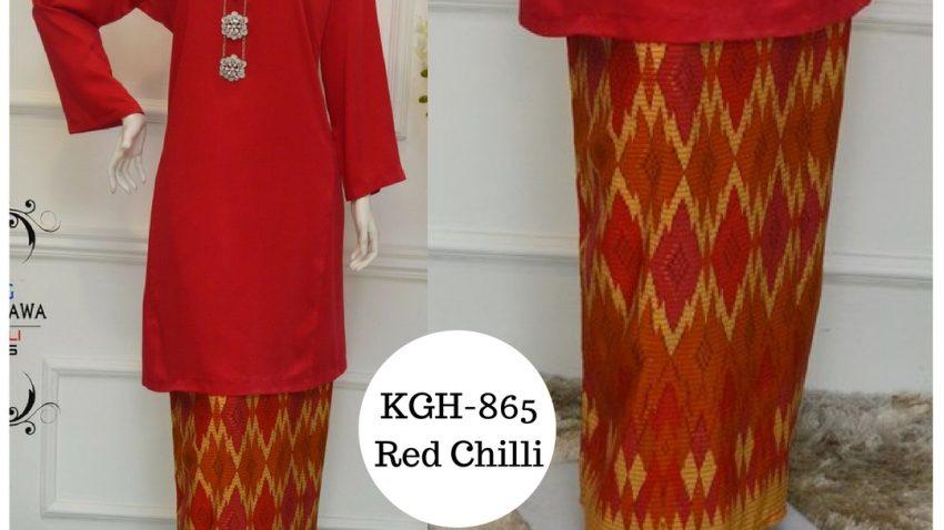 baju-kurung-pahang-songket-terkini-2017-red-chilli-merah-cili-KGH-865