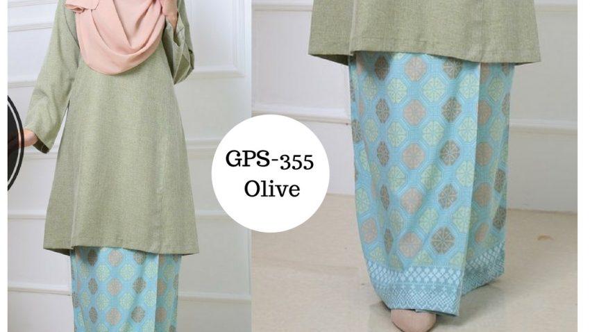 baju-kurung-pahang-songket-terkini-hijau-olive-green-gps-355