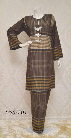 baju kurung pahang terkini 2015 online murah kain tenun cotton MSS 701 - 2