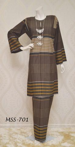 Baju Kurung Pahang Corak Pelikat Kain Tenun Cotton