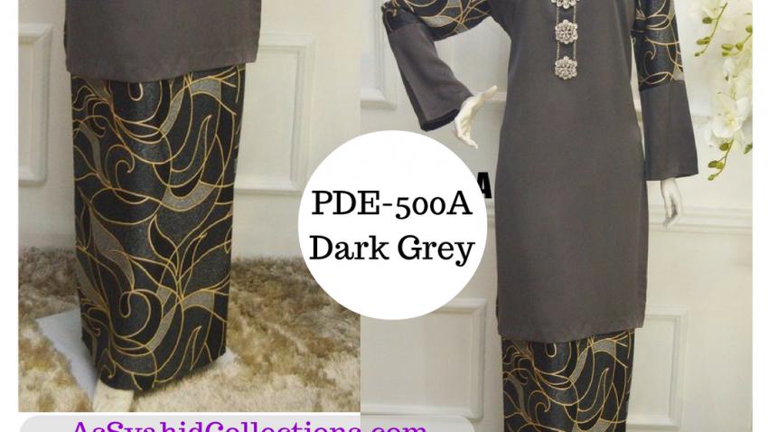 baju-kurung-pucci-terkini-2017-dark-grey-kelabu-gelap-pde-500A