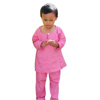 baju melayu baby lelaki merah jambu 07
