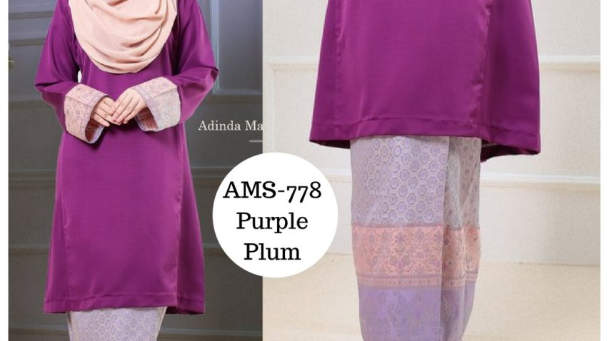 baju-raya-2017-kurung-pahang-songket-ungu-purple-plum-ams-778