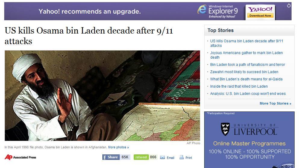 berita kematian Osama Bin Laden