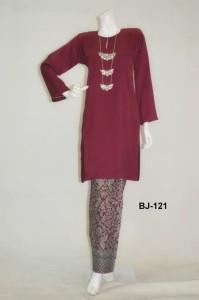 bj121 baju kurung pahang kain batik lipat maroon online murah