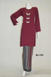 bj122 baju kurung pahang kain batik lipat maroon online murah