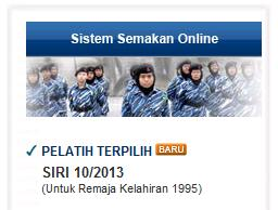 Cara semak PLKN 2013 online dan SMS