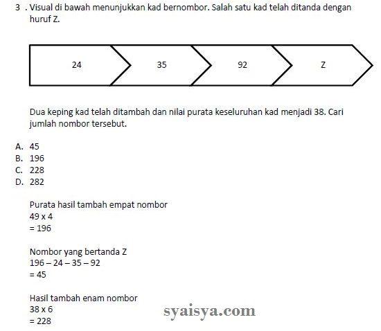 contoh soalan matematik exam online pembantu antidadah s19 AADK