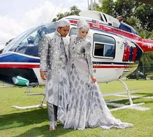 gambar kahwin mawi dan ekin di Felda Taib Andak