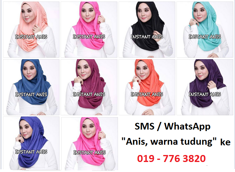 Tudung Instant Shawl Anis Murah Online