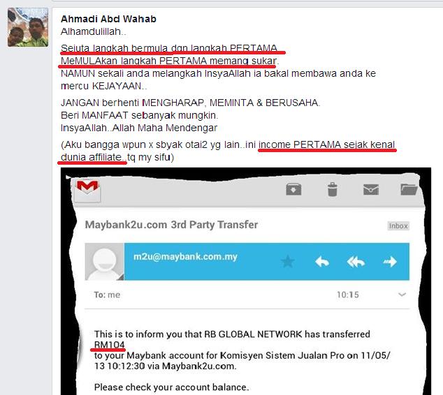 komisen pertama affiliate sistem jualan pro1 SISTEM JUALAN PRO – RAHSIA PENDAPATAN RM100   RM500 SEHARI