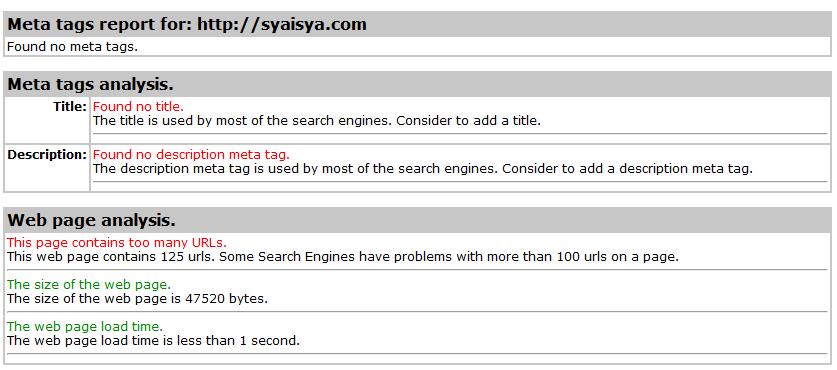 meta tag syaisya.com