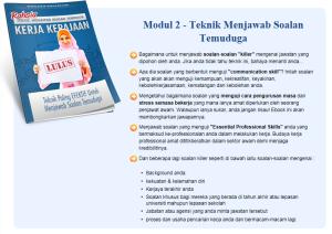 modul 2 ebook tip dan rahsia lulus temuduga kerja kerajaan teknik menjawab soalan temuduga