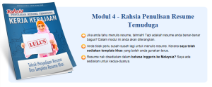 modul 4 ebook tip dan rahsia lulus temuduga kerja kerajaan teknik buat resume dan template resume yang berjaya