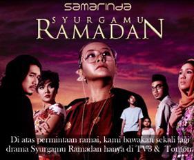 SYURGAMU RAMADHAN SINOPSIS, PELAKON, TV3