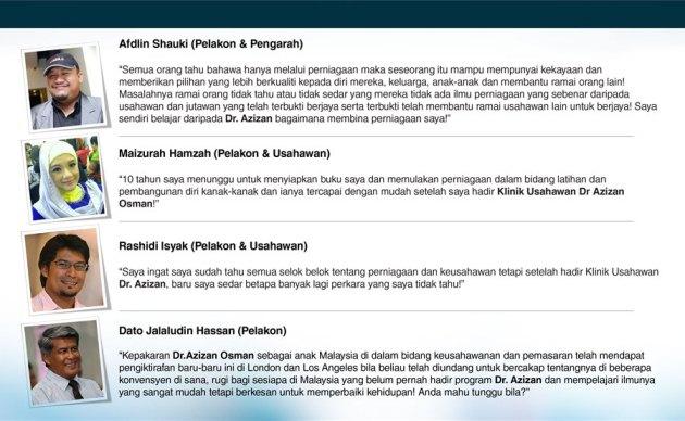 testimoni peserta seminar dr azizan osman afdlin shauki maizurah hamzah jalaludin hassan