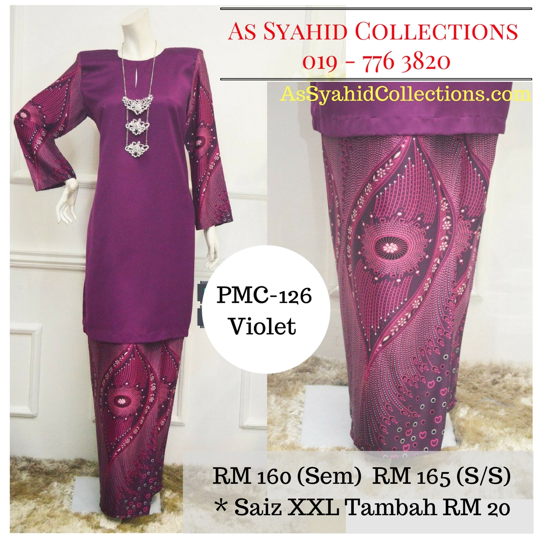 baju-kurung-moden-malaysia-terkini-ungu-violet-purple-PMC-126