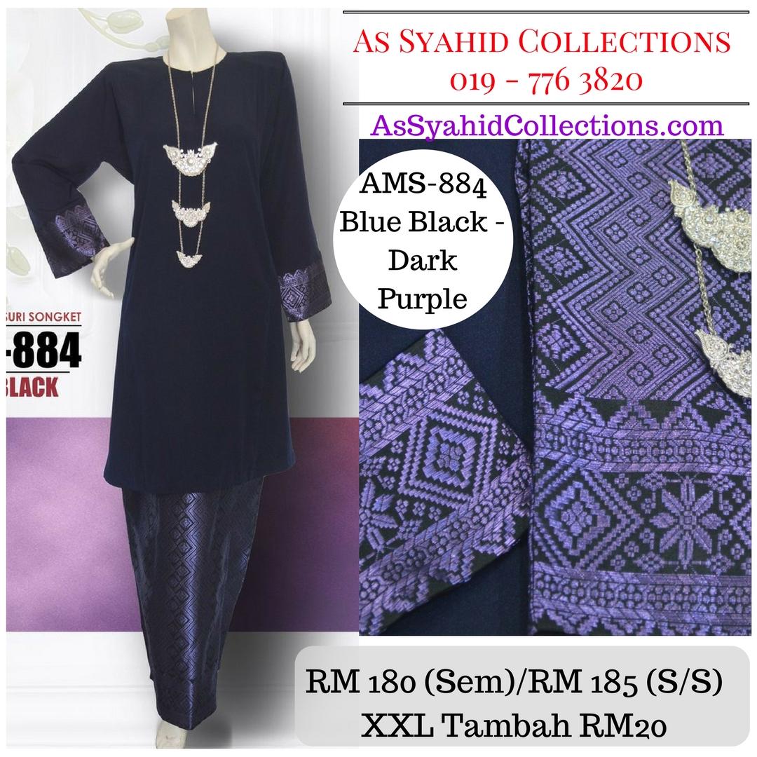 baju-kurung-pahang-songket-blue-black-dark-purple-biru-gelap-ams-884