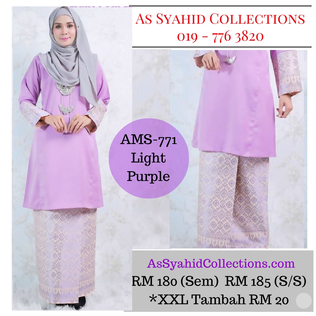 baju-kurung-pahang-songket-terkini-2017-ungu-cerah-light-purple-redstone-AMS-771