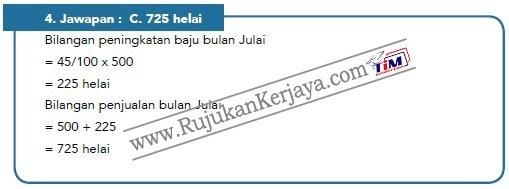 contoh soalan matematik Pembantu Syariah LS19 Negeri Perak 1 jawapan