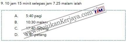 contoh soalan matematik Pembantu Syariah LS19 Negeri Perak 2